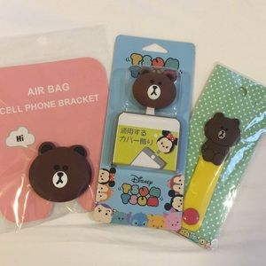 Accessories - New unofficial Line Friends pvc phone accessories